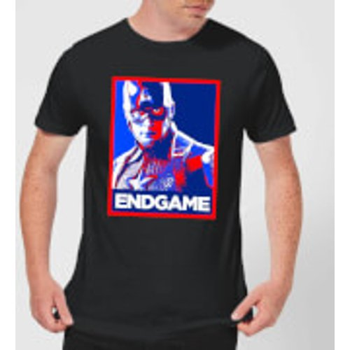 Marvel Avengers Endgame Captain America Poster Men's T-Shirt - Black - L - Black