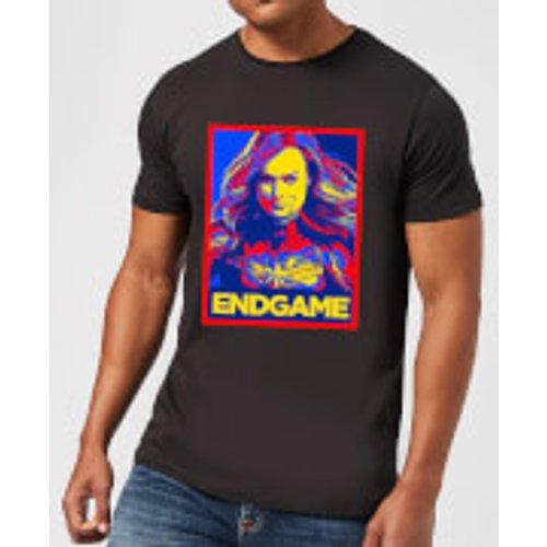 Marvel Avengers Endgame Captain Marvel Poster Men's T-Shirt - Black - S - Black