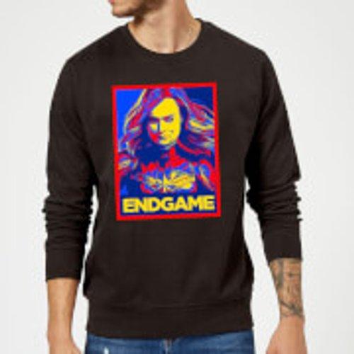 Marvel Avengers Endgame Captain Marvel Poster Sweatshirt - Black - L - Black