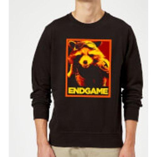 Marvel Avengers Endgame Rocket Poster Sweatshirt - Black - S - Black