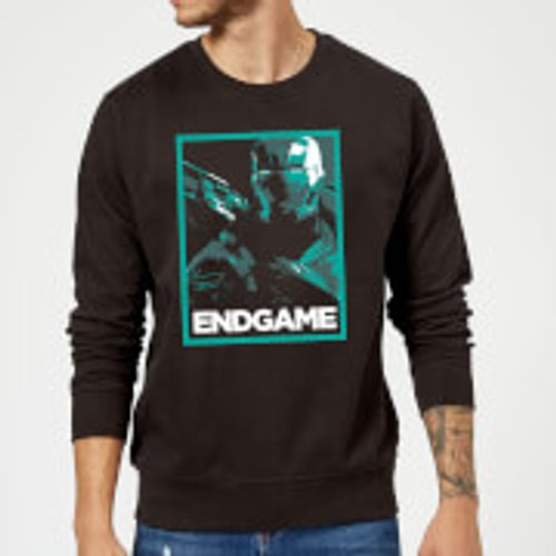Marvel Avengers Endgame War Machine Poster Sweatshirt - Black - XL - Black