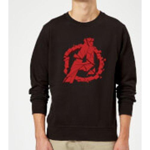Marvel Avengers Endgame Shattered Logo Sweatshirt - Black - S - Black