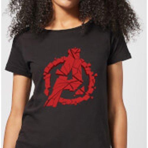 Marvel Avengers Endgame Shattered Logo Women's T-Shirt - Black - XS - Black