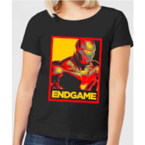Marvel Avengers Endgame Iron Man Poster Women's T-Shirt - Black - S - Black