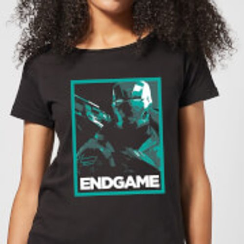 Marvel Avengers Endgame War Machine Poster Women's T-Shirt - Black - L - Black