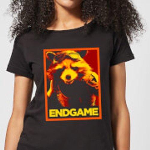 Marvel Avengers Endgame Rocket Poster Women's T-Shirt - Black - M - Black