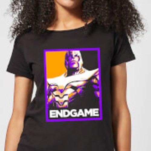 Marvel Avengers Endgame Thanos Poster Women's T-Shirt - Black - S - Black