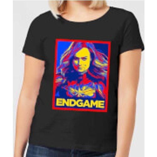 Marvel Avengers Endgame Captain Marvel Poster Women's T-Shirt - Black - XS - Black