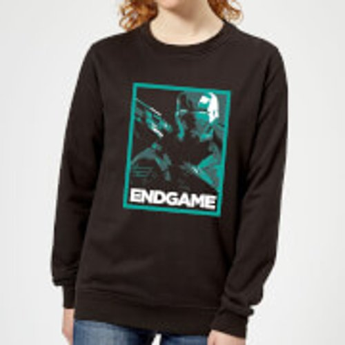 Marvel Avengers Endgame War Machine Poster Women's Sweatshirt - Black - S - Black