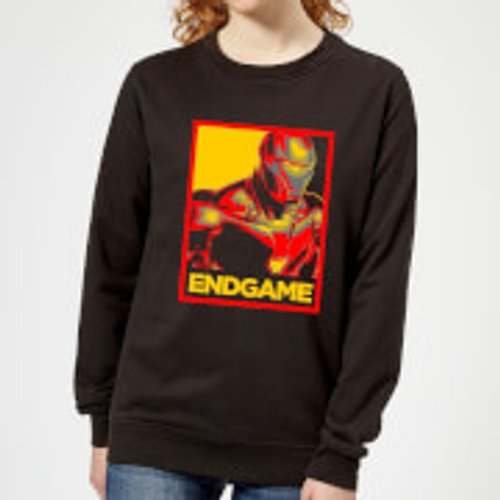 Marvel Avengers Endgame Iron Man Poster Women's Sweatshirt - Black - S - Black