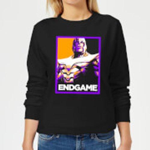 Marvel Avengers Endgame Thanos Poster Women's Sweatshirt - Black - S - Black