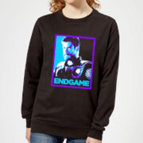 Marvel Avengers Endgame Thor Poster Women's Sweatshirt - Black - 5XL - Black