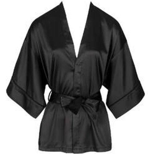 Kimono dentelle en satin Nuit à Broadway - ATELIER AMOUR - Modalova