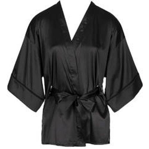Kimono boutonné en satin Nuit à Broadway - ATELIER AMOUR - Modalova