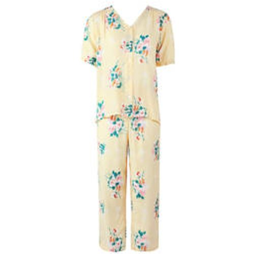 Pyjama 7/8 manches courtes en satin de viscose Onirique - LAURENCE TAVERNIER - Modalova