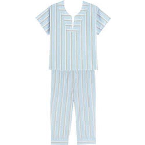 Pyjama corsaire manches courtes en satin de coton Illusion - LAURENCE TAVERNIER - Modalova