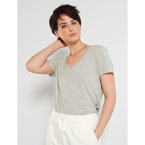 T-shirt col V - Kiabi - Modalova