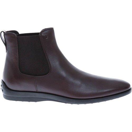New Queen Beattle Boots en cuir avec élastiques - TOD'S - Modalova