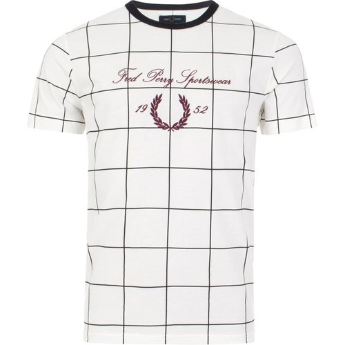 Archive Embroidered T-Shirt , , Taille: L - Fred Perry - Modalova