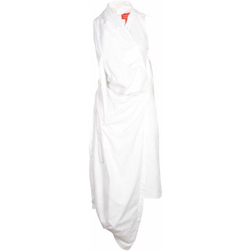 White long sleeveless shirts dress with draping , , Taille: L - 42 FR - Vivienne Westwood Pre-owned - Modalova
