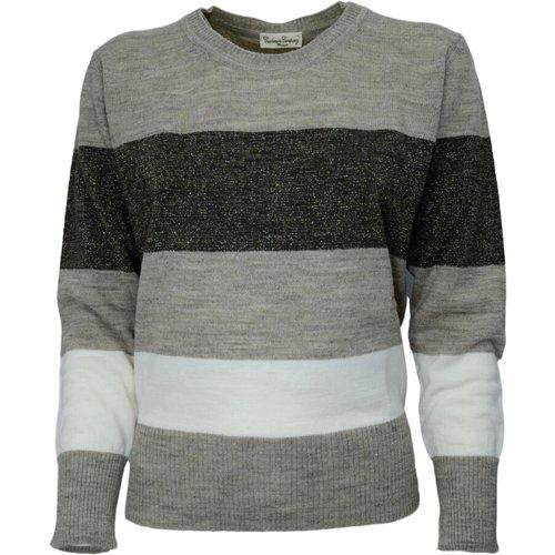 Striped Crew Neck Sweater 3511 - Cashmere Company - Modalova
