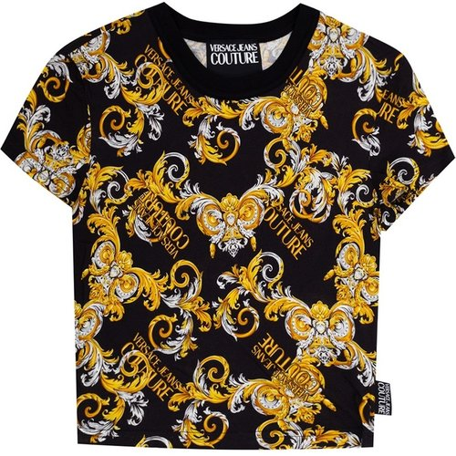 Short-sleeved top with logo - Versace Jeans Couture - Modalova