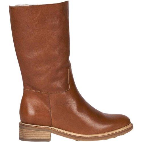 Fur-lined leather high boots - Anthology Paris - Modalova