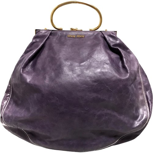 Pre-owned Distressed Leather Frame Satchel , , Taille: Onesize - Miu Miu Pre-owned - Modalova