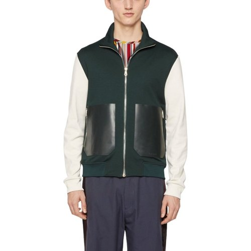 Veste jogging zippée poches cuir - Paul Smith - Modalova