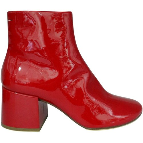 Patent Leather Flared Heel Ankle Boots , , Taille: 41 - Maison Margiela Pre-owned - Modalova