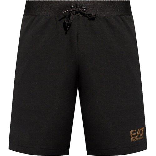 Sports shorts with logo - Emporio Armani EA7 - Modalova