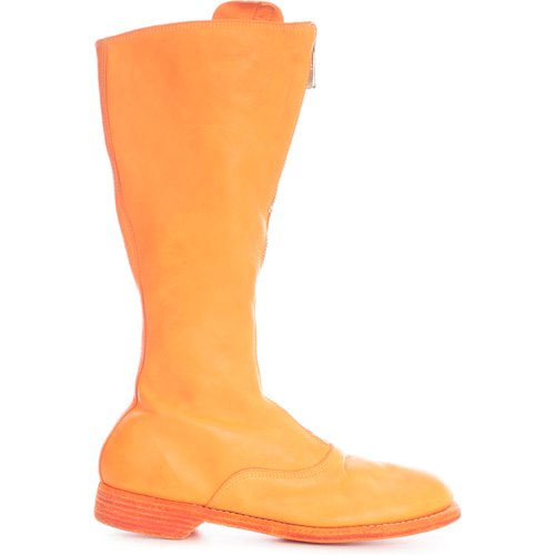 Front ZIP Army Boots Sole Leather - Guidi - Modalova