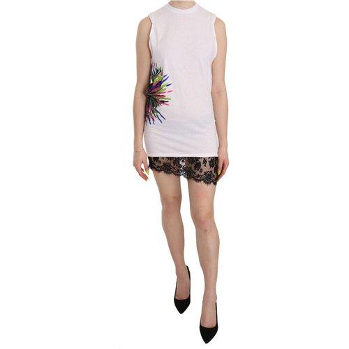Printed Crew Neck Sleeveless Bodycon Mini Dress , , Taille: 2XS - 38 IT - Dsquared2 - Modalova