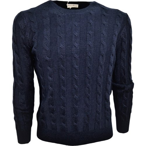 Men's Braid Sweater Wool - Cashmere Company - Modalova