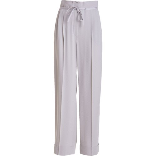Wide trousers with turn-up - Emporio Armani - Modalova