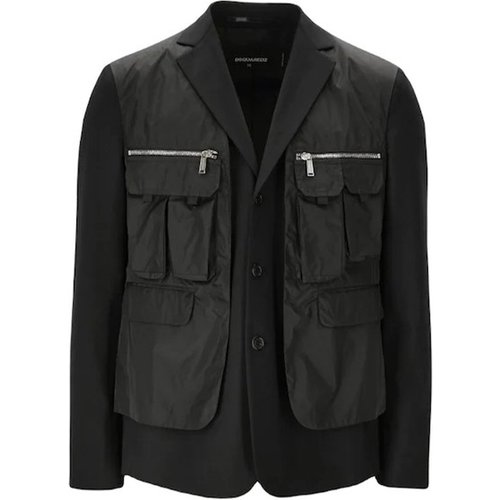 Front Pocketed Blazer , , Taille: 2XL - Dsquared2 - Modalova