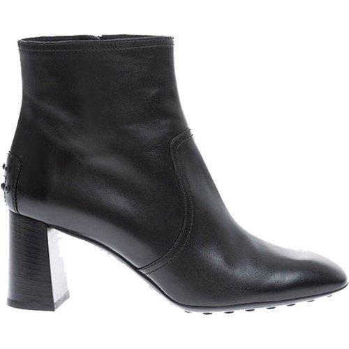 Boots en cuir de veau avec bout carré - TOD'S - Modalova