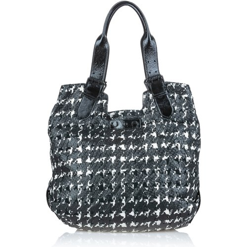 Houndstooth Leather Tote Bag - Alexander McQueen Vintage - Modalova