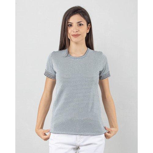 T-shirt righe lurex reverse - Roberto Collina - Modalova