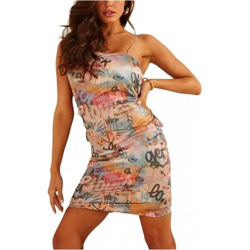 Robe moulante print graffitis Guess - Guess - Modalova