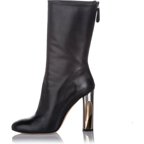 Mid-Calf Leather Boot - Alexander McQueen Vintage - Modalova