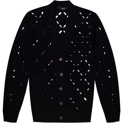 Cardigan with cut-out details - Versace - Modalova