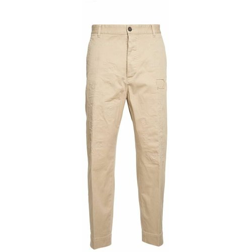 Distressed-effect straight-leg trousers , , Taille: 52 IT - Dsquared2 - Modalova