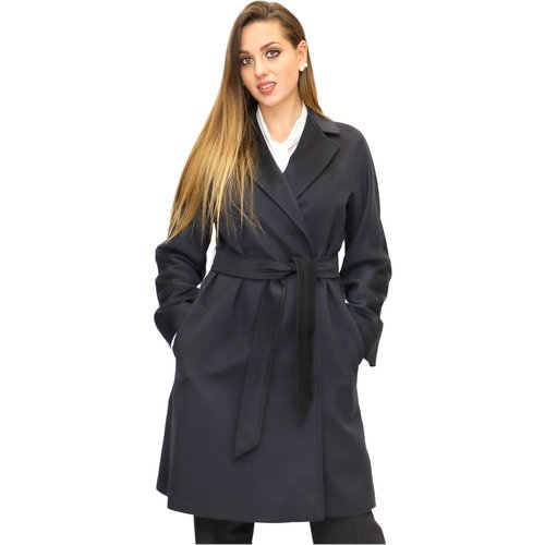 Wool coat with belt , , Taille: 46 IT - Max Mara Studio - Modalova