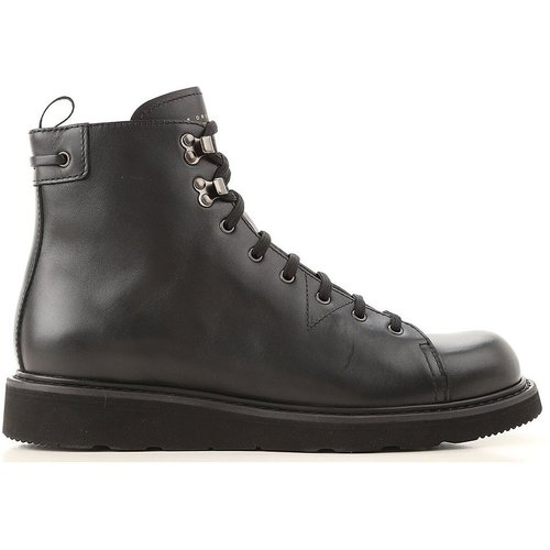 Lace-up ankle boots in leather - Car Shoe - Modalova