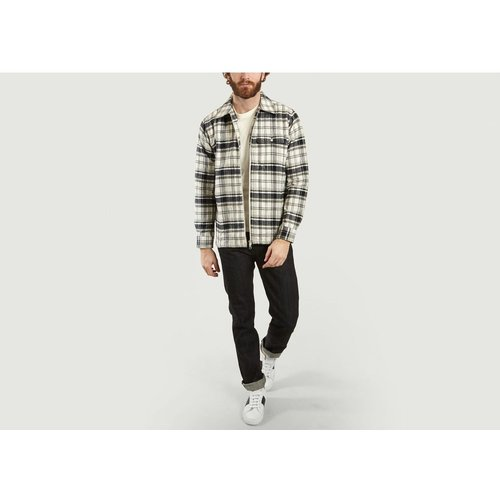 Check Quilted Zipped Jacket - Knowledge Cotton Apparel - Modalova