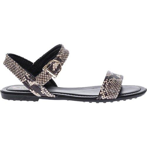Sandales plates imprimé python - TOD'S - Modalova