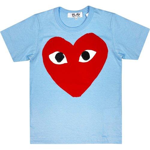 Heart Print T-Shirt - Comme des Garçons Play - Modalova
