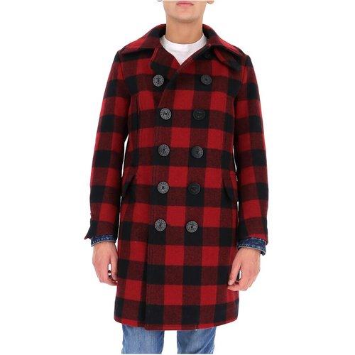 Manteau à carreaux à double boutonnage - Dsquared2 - Modalova