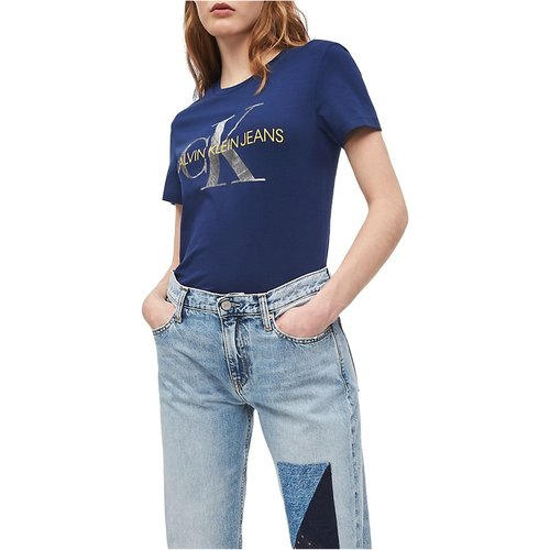 J20J211508 Metallic T Shirt AND Tank Women Medieval Blue - Calvin Klein Jeans - Modalova